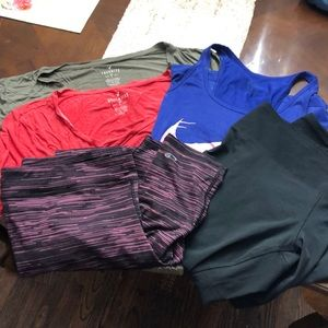 5 piece xl-xxl gym wear bundle